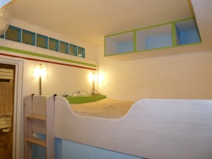Vue de la chambre cabine de l'appartement BLEU
